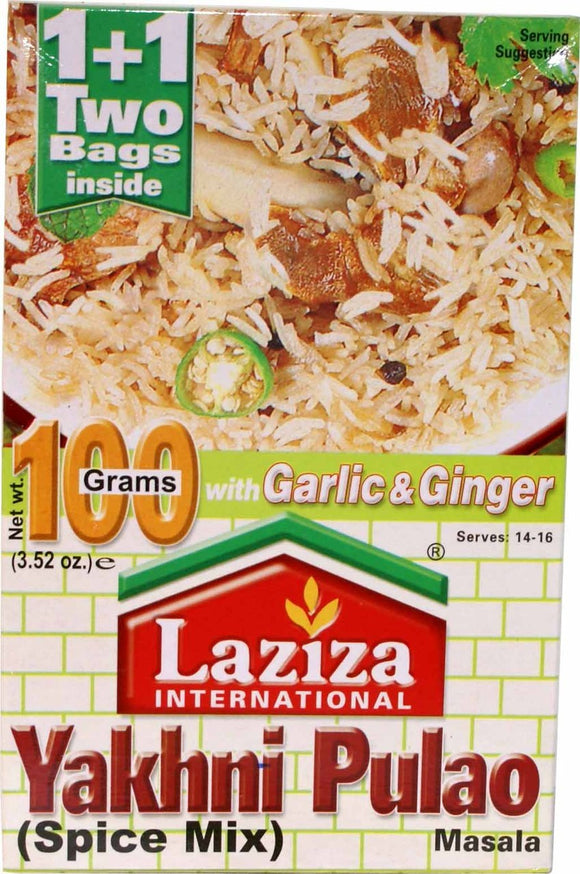Laziza Yakhni Pulao Masala with Garlic & Ginger 100g