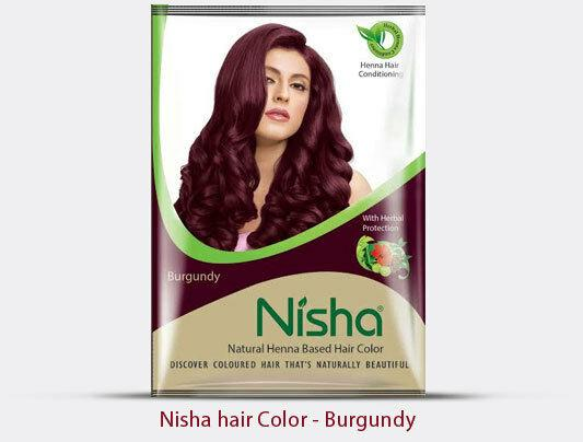 Nisha Natural Henna Based Hair Color (Burgundy)