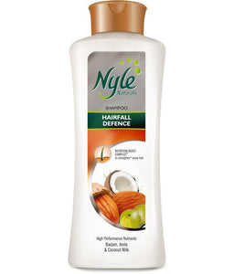 Nyle Naturals Hairfall Defence Shampoo with Nutrients Badam, Amla, Coconut Milk