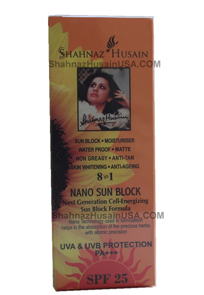 Shahnaz Husain 8 in 1 Nano Sun Block Cream SPF 25