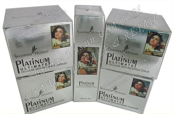 Shahnaz Platinum Facial kit Cleanser Scrub Mask Complex Serum