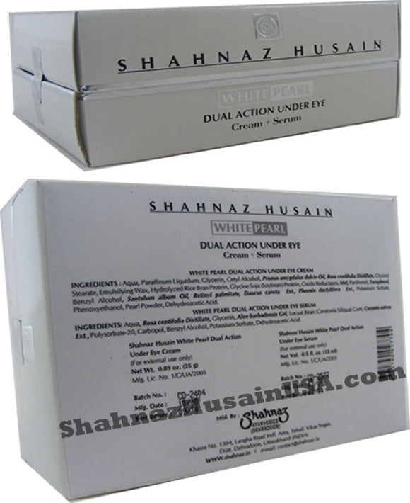 Shahnaz  White Pearl Dual Action Under Eye Cream + Serum
