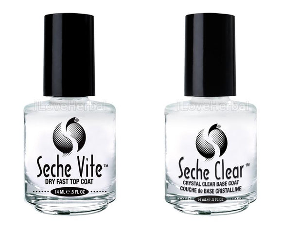 Seche Crystal Clear Base Coat & Seche Vite Top Coat 0.5oz