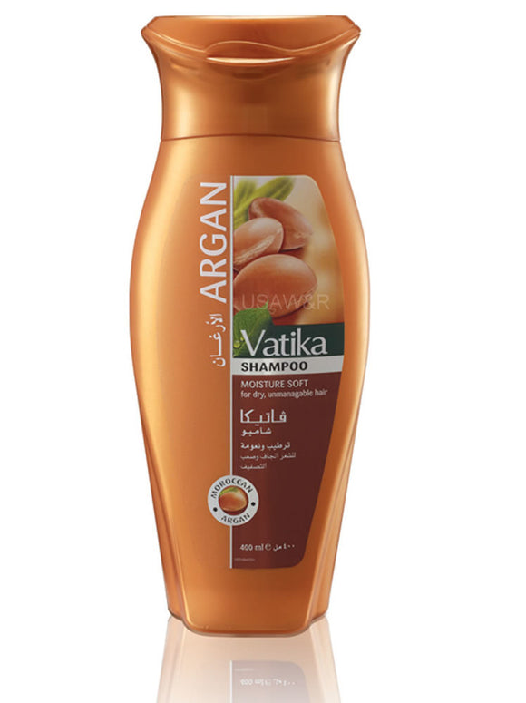 Vatika Argan Shampoo For Shine and Softness 400ml