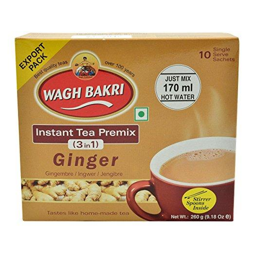 Wagh Bakri Insant Tea Premix three in one Ginger 260g