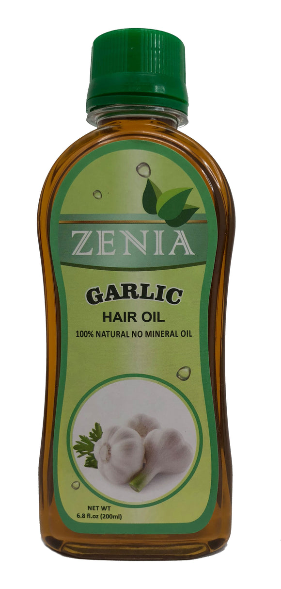 Zenia Garlic Hair Oil 100% Natural No Mineral Oil 200ml