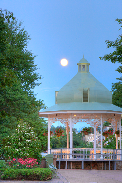Ligonier Gazebo Full Moon<br>Original Photograph