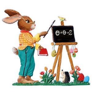 "New! 2020 Wilhelm Schweizer ""Bunny Teacher"" Standing Easter Ornament"