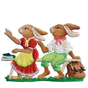 "New! 2020 Wilhelm Schweizer ""Bunny Students"" Standing Easter Ornament"