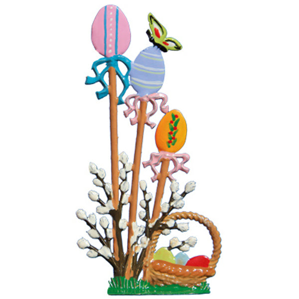 "New! 2020 Wilhelm Schweizer ""Standing Egg Garden with Basket"" Standing Easter Ornament"