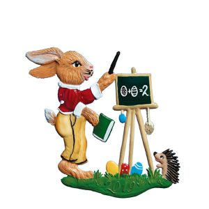 "New! 2020 Wilhelm Schweizer ""Bunny Classroom"" Hanging Easter Ornament"