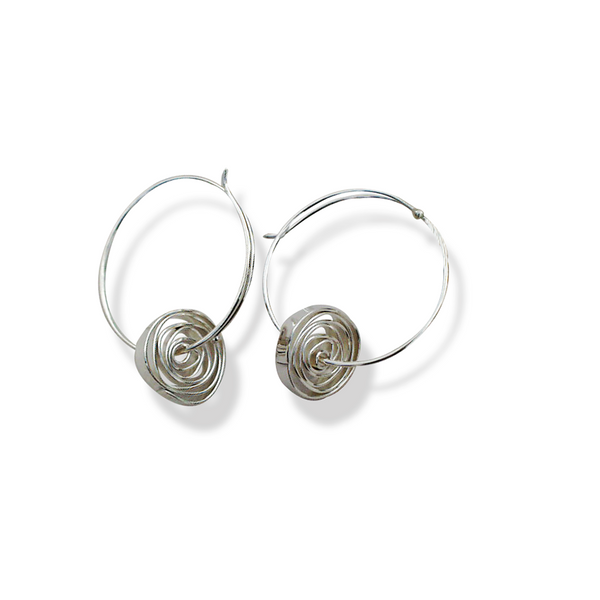 Jeff Gray Sterling Silver Coiled Earrings