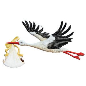 "New! 2020 Wilhelm Schweizer ""Stork Special Delivery"" Hanging Easter Ornament"