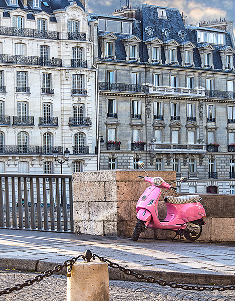Paris Pink Vespa<br>Original Photograph by H Childs