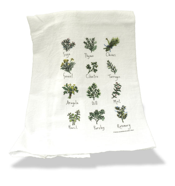 Flour Sack Kitchen Towel <br>by Paper Sharks