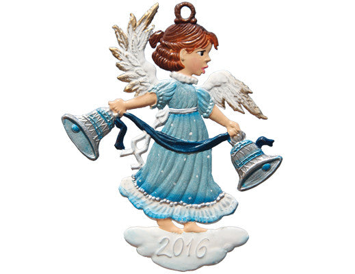 "Wilhelm Schweizer 2016 Holiday Season Ornament ""Bell Ringer Angel"" Hanging Ornament"