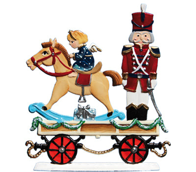 Christmas Express Train Car with Rocking Horse & Soldier