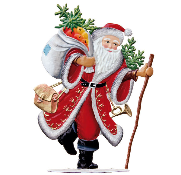 <strong>Wilhelm Schweizer 2010 holiday Ornament</strong>Commemorative Pewter Santa Ornament