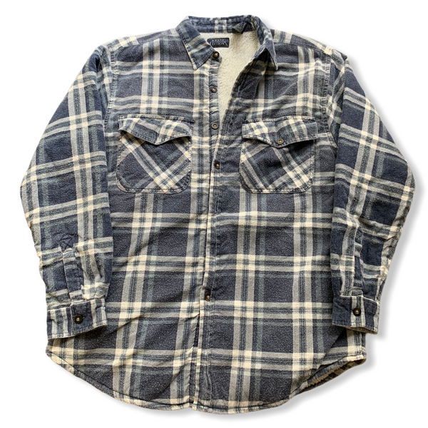 Basic Editions Fleece Lined Flannel Jacket XL