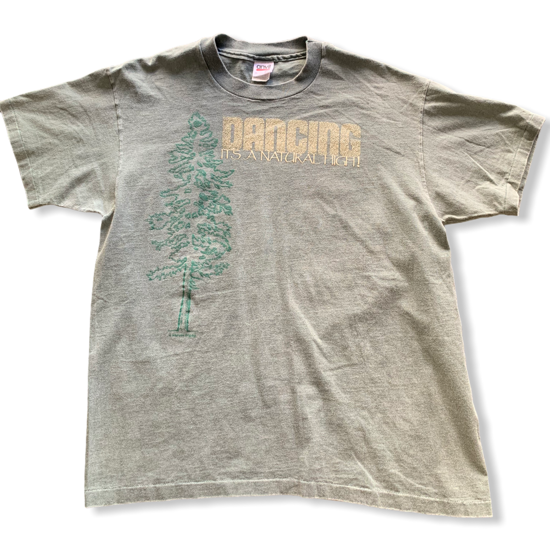 Dancing is a Natural High Vintage Tee Large