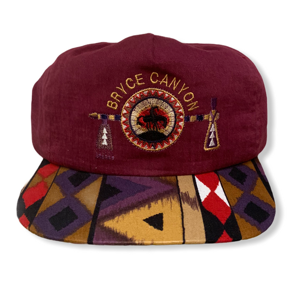 Bryce Canyon Vintage Leather Strapback Hat