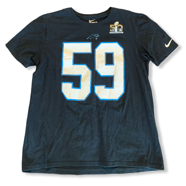 Luke Kuechly Carolina Panthers Super Bowl Tee Medium