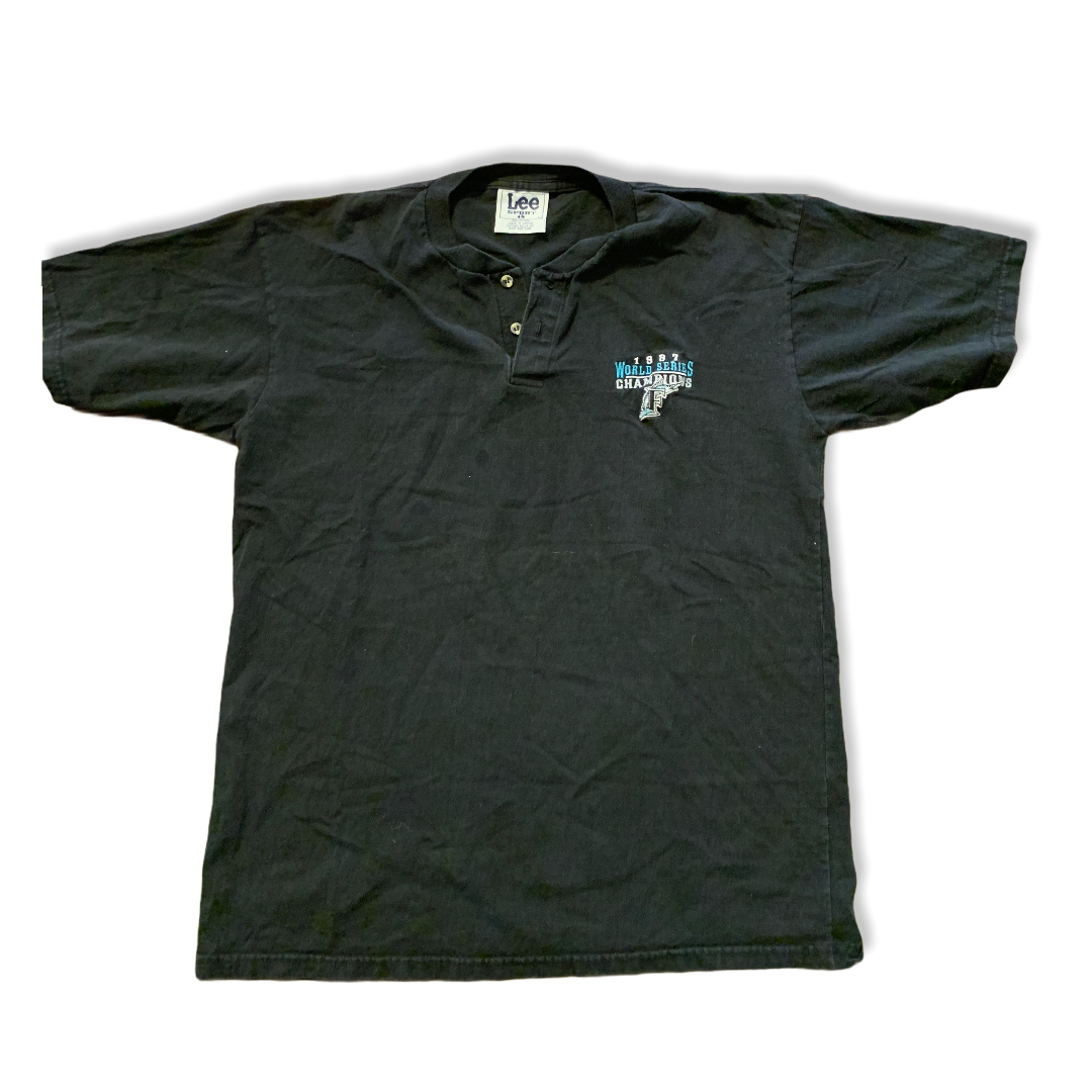 Florida Marlins 1997 World Series Henley Shirt XL