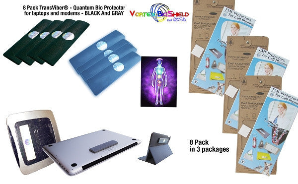 8 Gift  packs TransViber® Bio Protectors For Laptops, Desktops and Modems - random colors