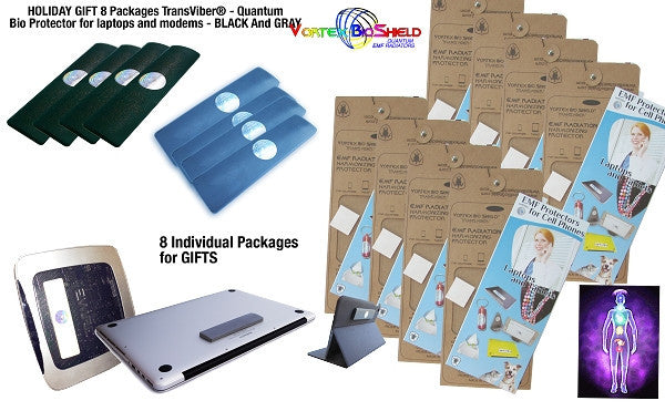 Holiday Gift 8 packages TransViber® Bio Protectors For Laptops, Desktops and Modems - random colors