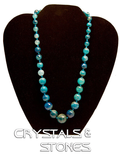 62 New Product - Blue Agate Quantum EMF Harmonizing Neckless
