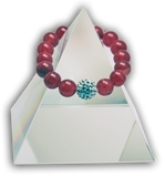 134 New Product - EMF Harmonizing Bracelet Tourmaline Red