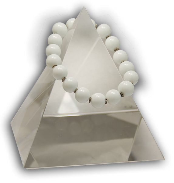 135 New Product - EMF Harmonizing Bracelet White Coral