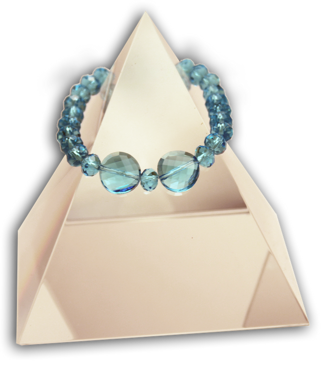 143 New Product - EMF Harmonizing Faceted Crystal Beads Teal - Quantum EMF Protectors