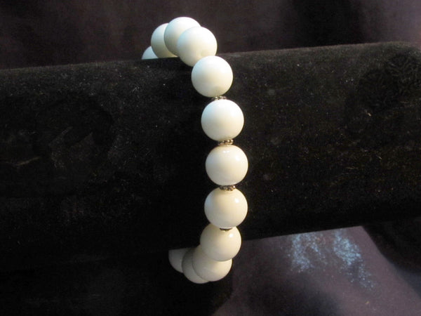 New Product - EMF Radiation Harmonizing Bracelet - White GLOBE Crystal Bracelet