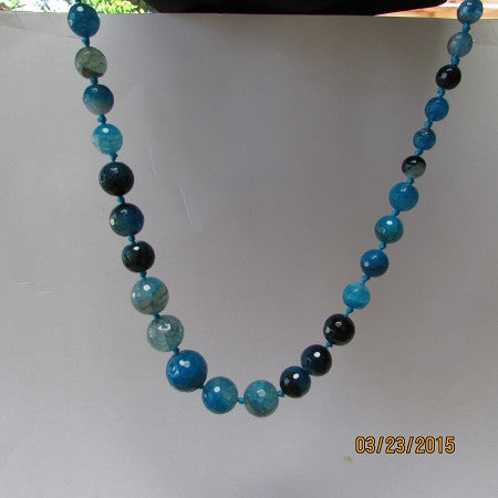 Quantum EMF Blue Agate EMF Neutralizer Necklace - Balanced is Safe!