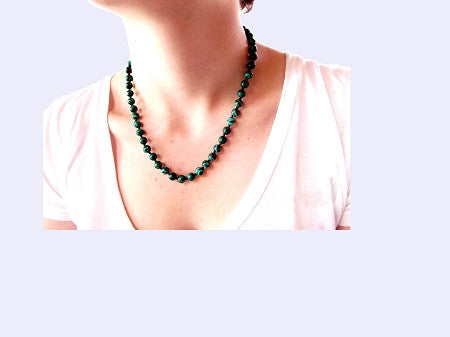 Quantum Infused Natural Malachite Necklace EMF Neutralizer