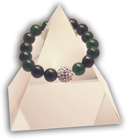 132 New Product - EMF Harmonizing Bracelet Malachite  TigersEye