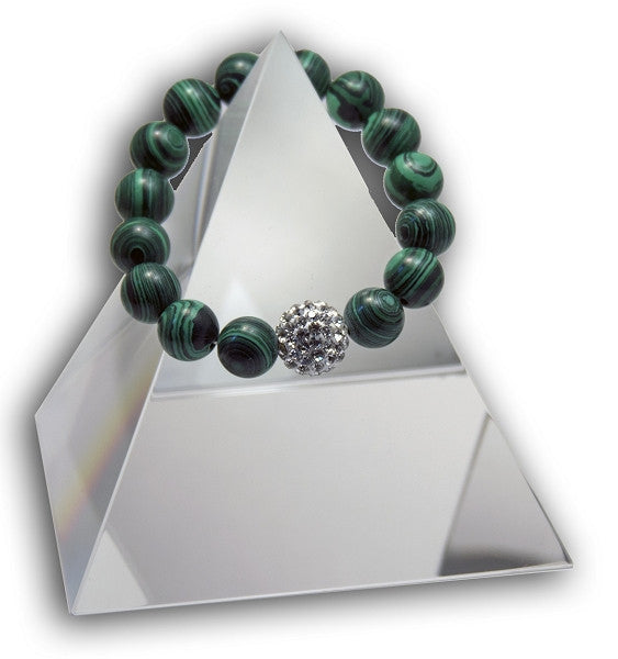 New Product - EMF Radiation Harmonizing Bracelet - Natural Malachite