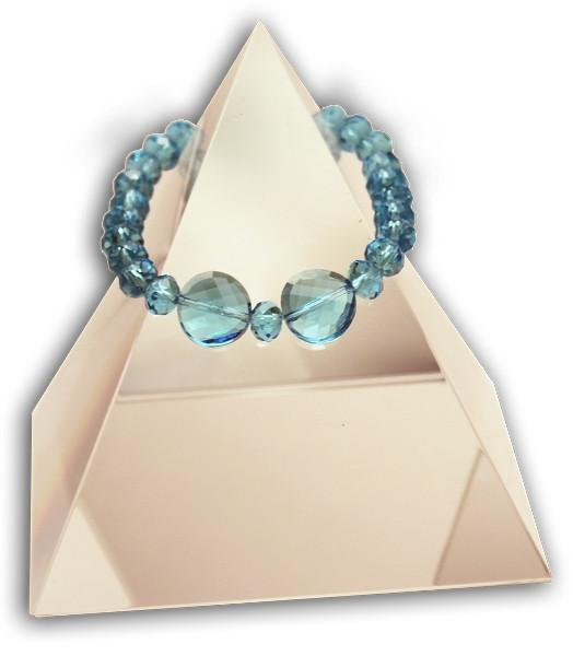143 New Product - EMF Harmonizing Faceted Crystal Beads Teal