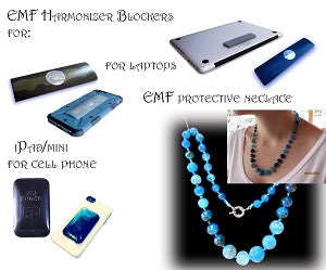 New Product - 5 Items total EMF Bundle1 Agate Necklace 2 Cell Phones, 1 each for tablet and Laptop - for all occasions