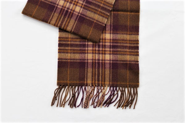 Cashmere Country Scarf In Brown Check - Alice & Country