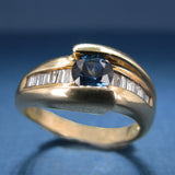 Sapphire and Diamond Ring - Engagement Ring