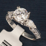 Tacori Platinum Engagement Ring with Diamonds - Style HT2324