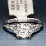 Tacori Platinum Engagement Ring with Diamonds - Style 2604