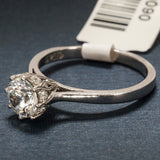 Tacori Platinum Engagement Ring with Diamonds - Solitaire Ring Style - Style 2504