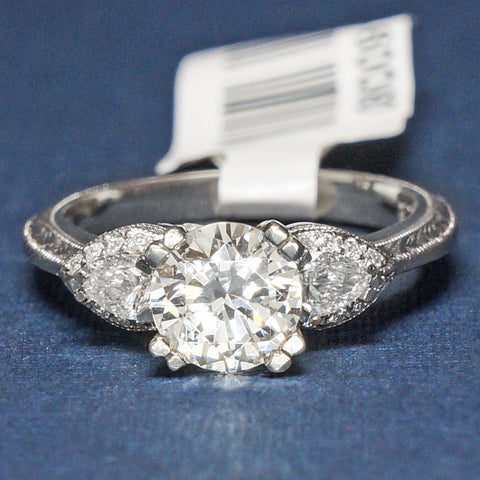 Tacori Platinum Engagement Ring with Diamonds - Style HT2358