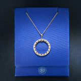 Tacori Circle Pendant in 18K White Gold with Diamonds - Lovely - Style FP505