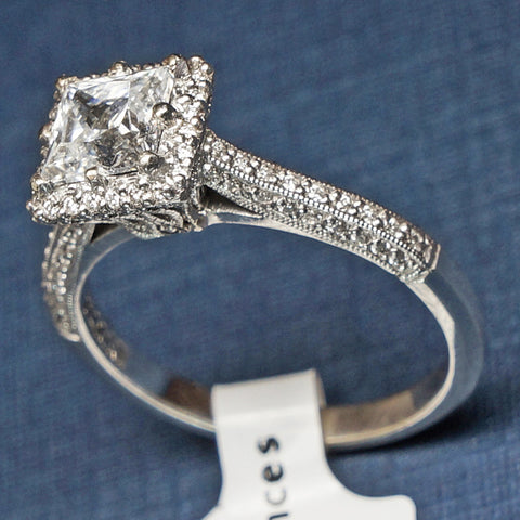 Tacori White Gold Engagement Ring with Diamonds - Style 2502PR