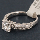 Verragio 18K White Gold Engagement Ring with Diamonds - Style 7023
