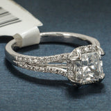 Verragio 18K White Gold Engagement Ring with Diamonds - Style 0378